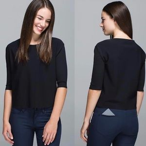 Lululemon black Out of this world tee boxy top